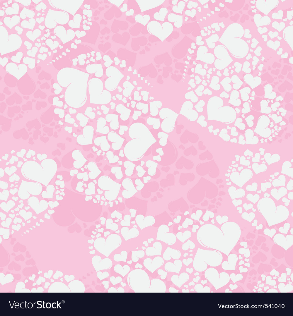 Seamless love background from heart shaped butterf vector | Price: 1 Credit (USD $1)