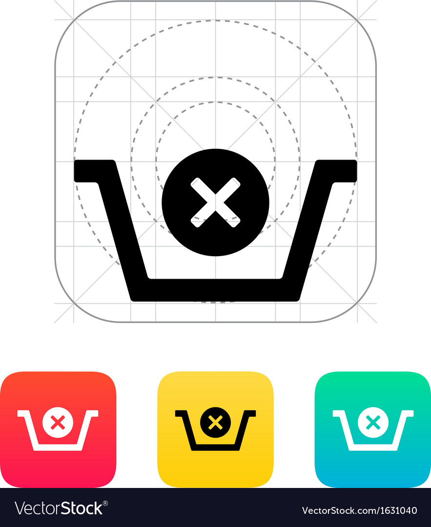 Shopping basket delete icon vector | Price: 1 Credit (USD $1)