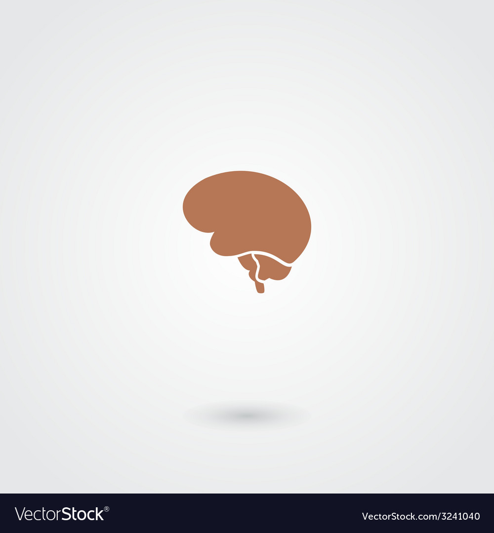 Simple minimalistic brain icon vector | Price: 1 Credit (USD $1)