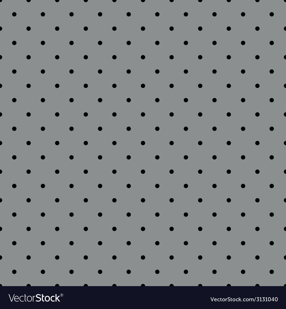 Tile pattern with black polka dots grey background vector | Price: 1 Credit (USD $1)