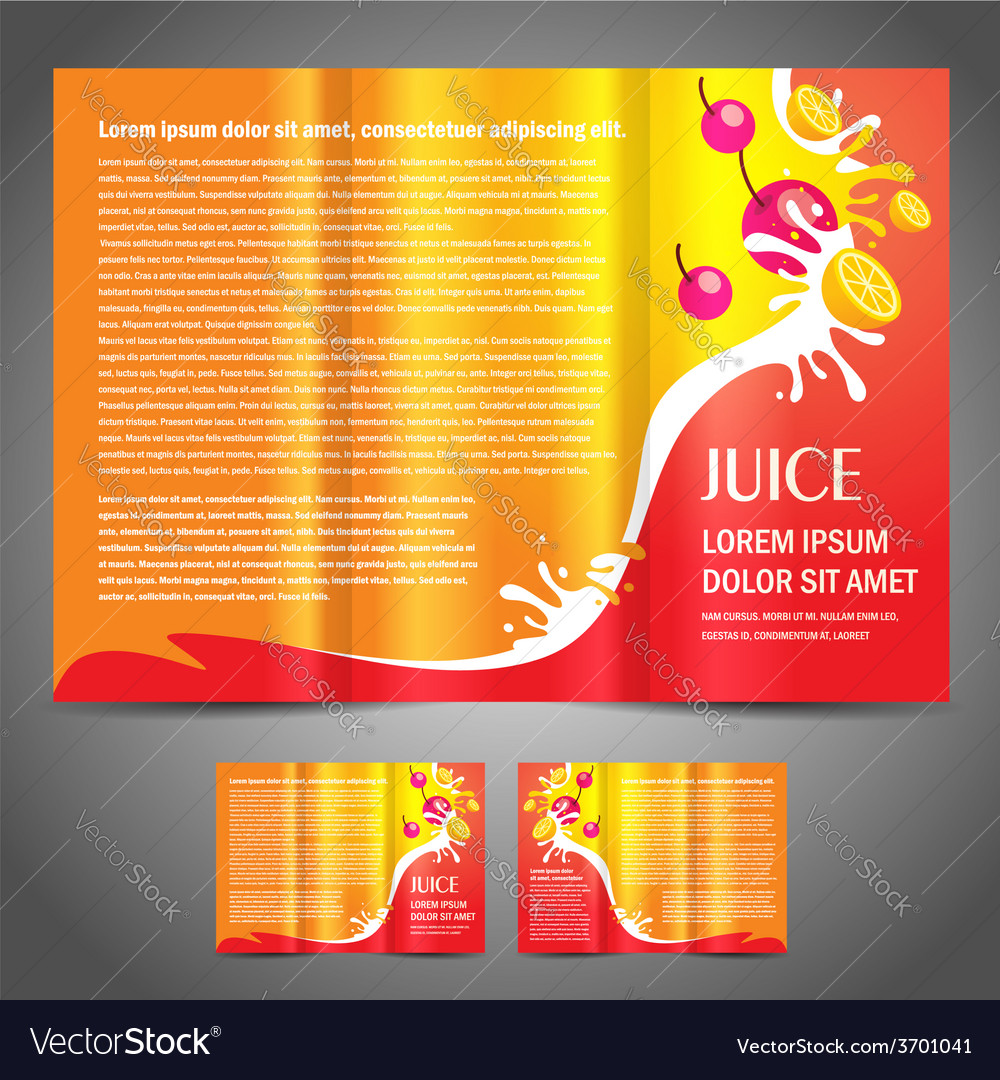 Brochure fruit colored vector | Price: 1 Credit (USD $1)