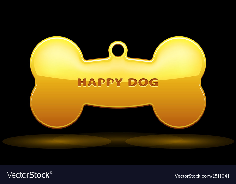 Dog bone vector