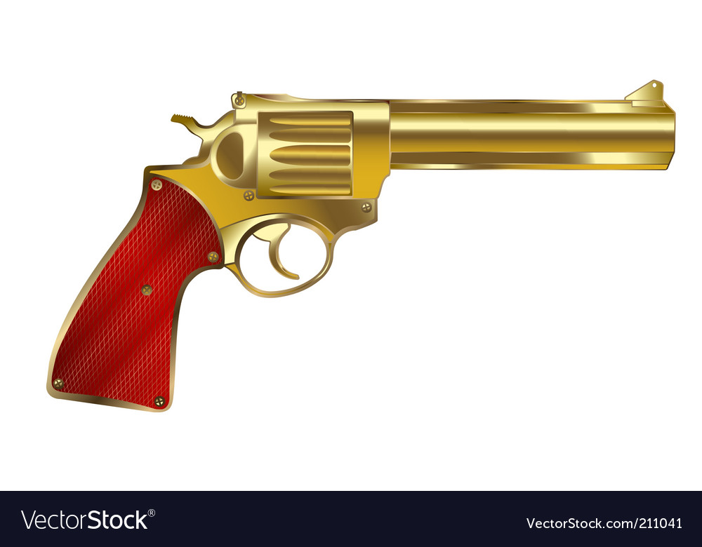 Golden gun vector | Price: 3 Credit (USD $3)