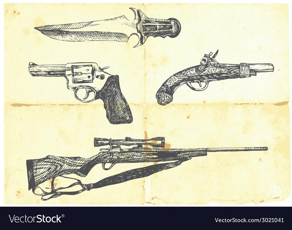 Guns vector | Price: 1 Credit (USD $1)