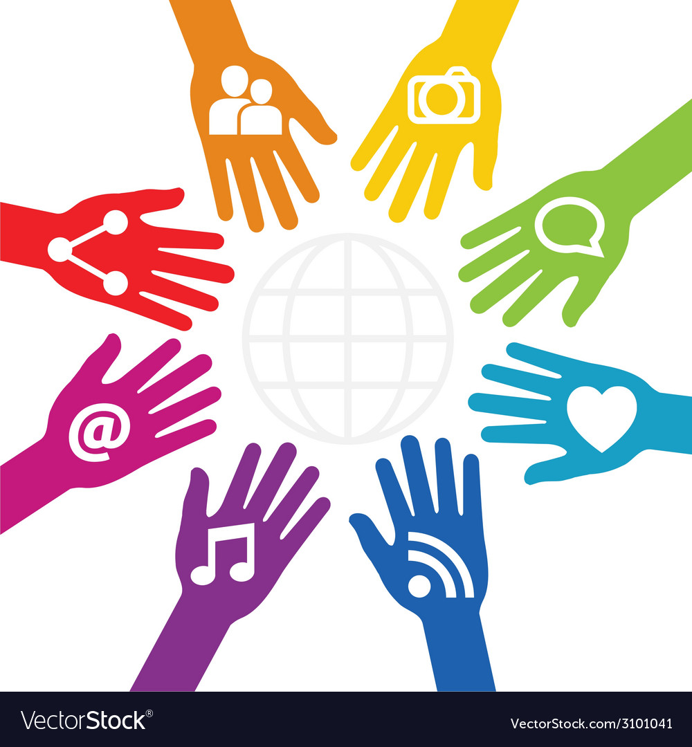 Hands connected to share vector | Price: 1 Credit (USD $1)