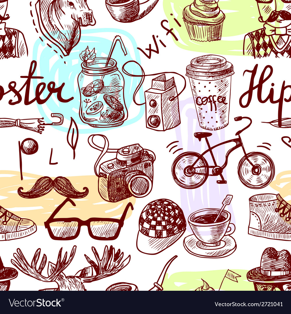 Hipster seamless vector | Price: 1 Credit (USD $1)