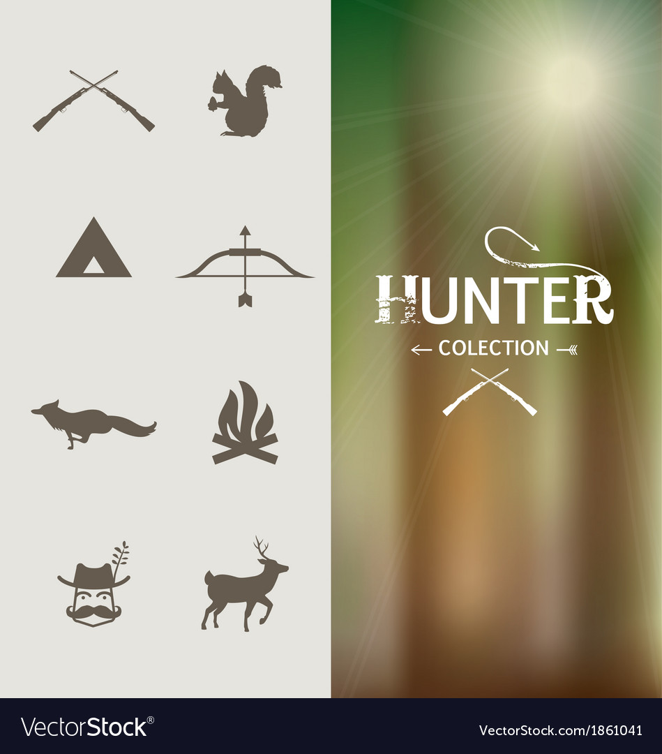 Hunter graphic elements vector | Price: 1 Credit (USD $1)