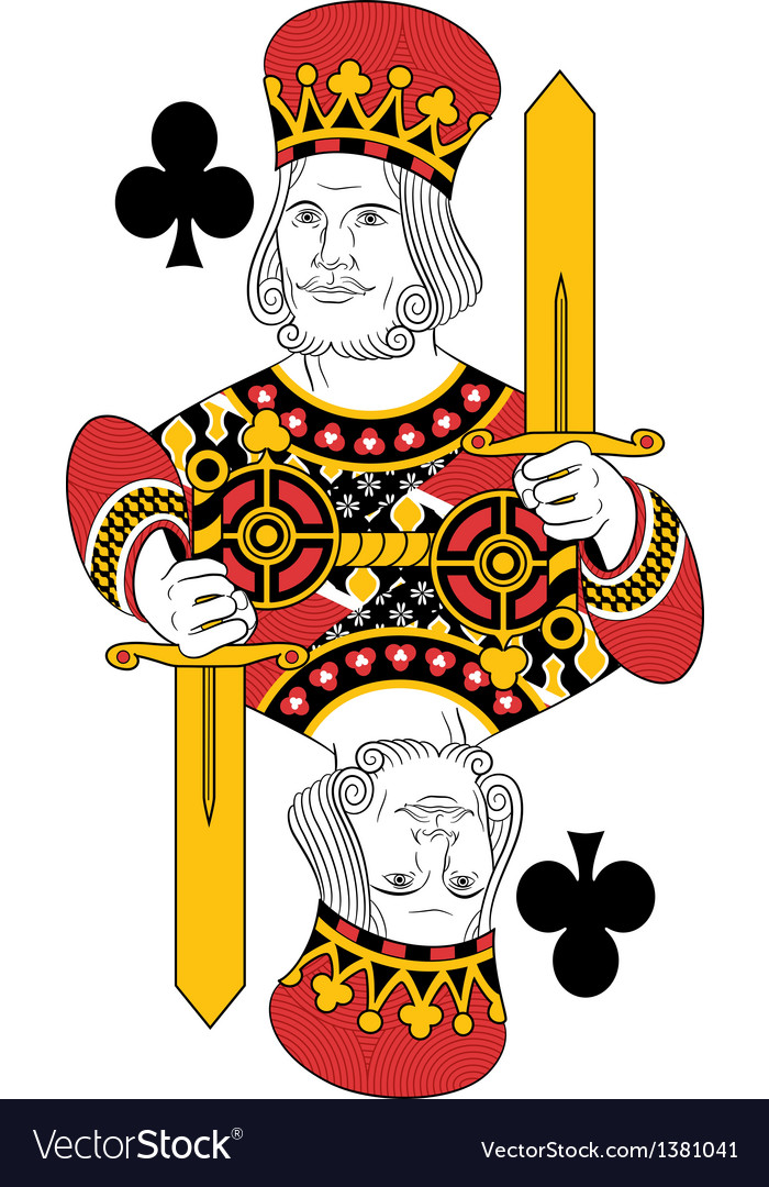 King of clubs vector | Price: 1 Credit (USD $1)