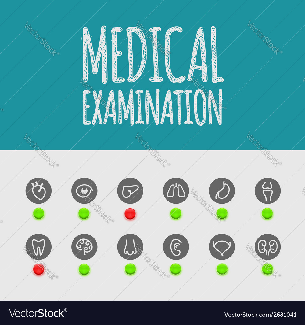 Medical examination vector | Price: 1 Credit (USD $1)