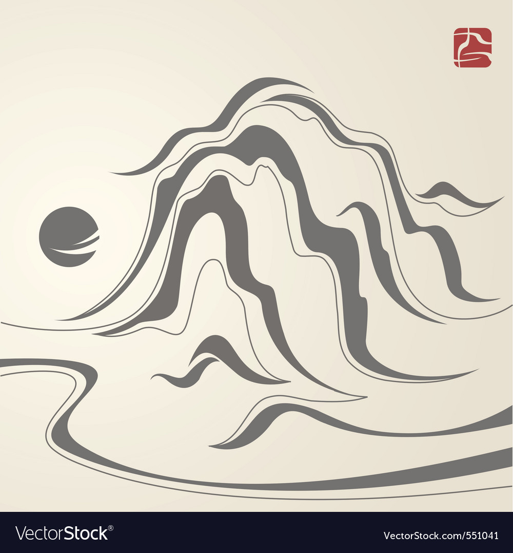 Mountain sketch vector | Price: 1 Credit (USD $1)