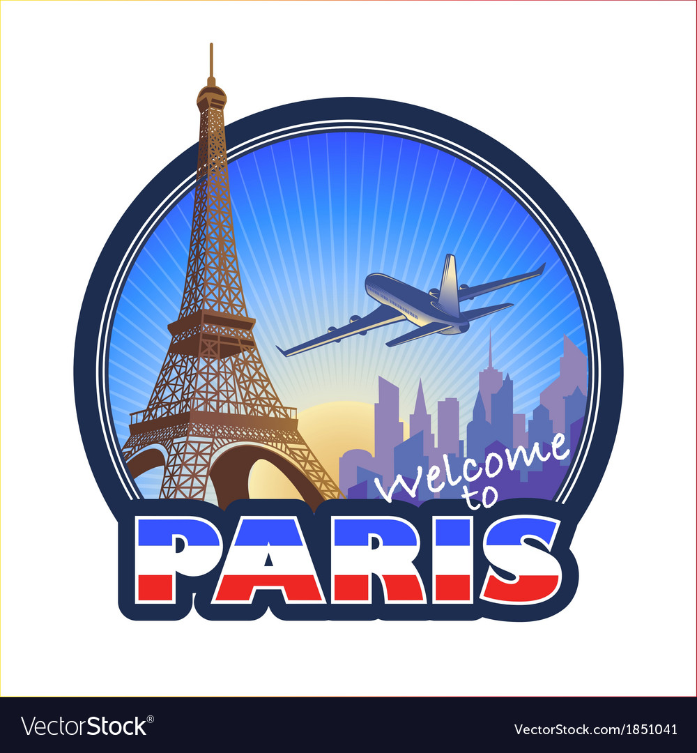 Travel paris 2 vector | Price: 1 Credit (USD $1)