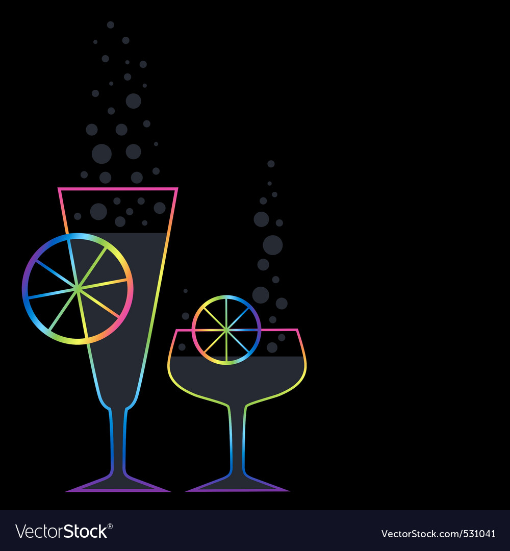 Two coctails vector | Price: 1 Credit (USD $1)