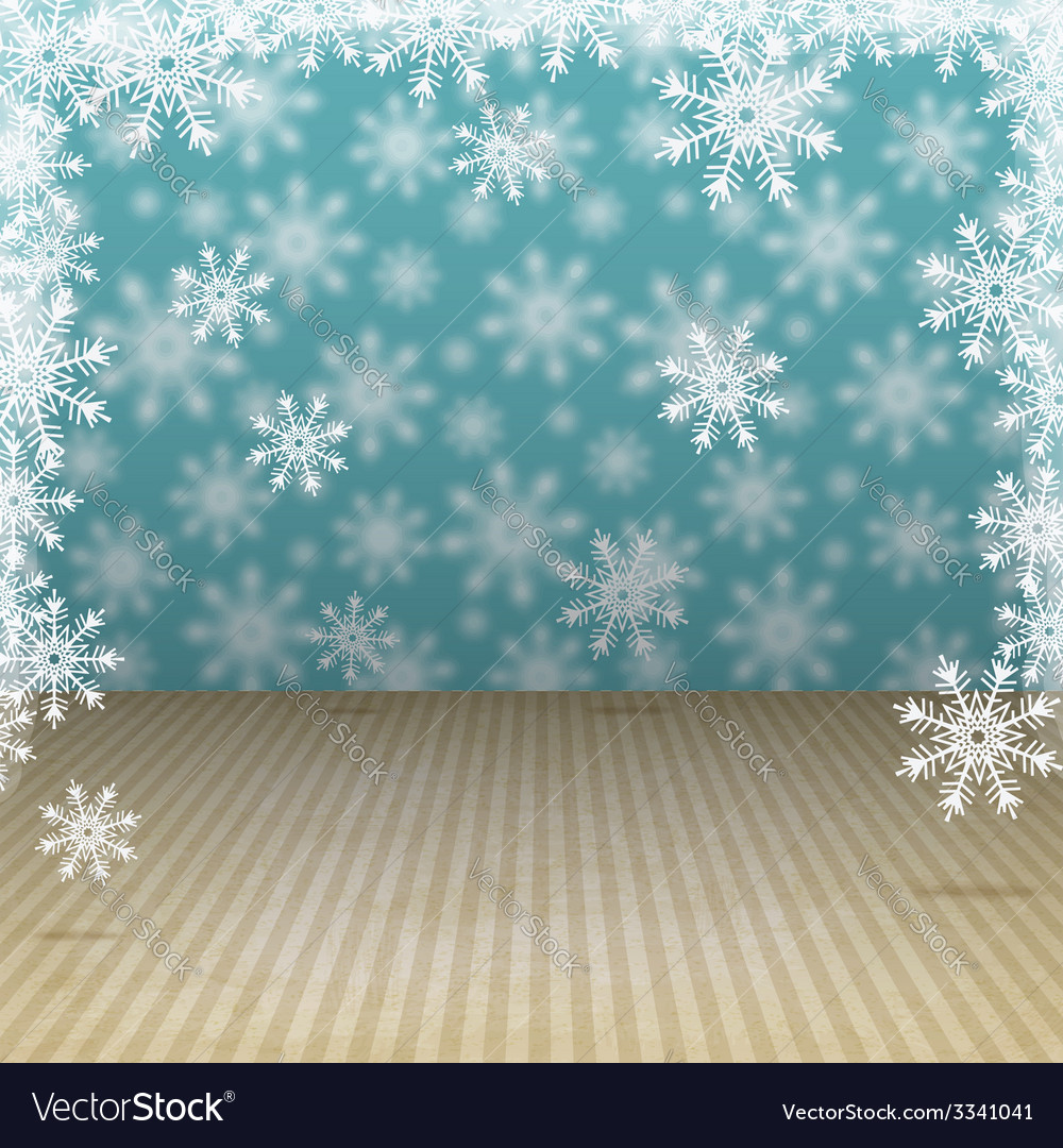 Winter holiday background with snowflakes vector | Price: 1 Credit (USD $1)