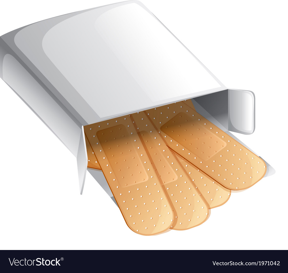 A box of band-aids vector | Price: 1 Credit (USD $1)