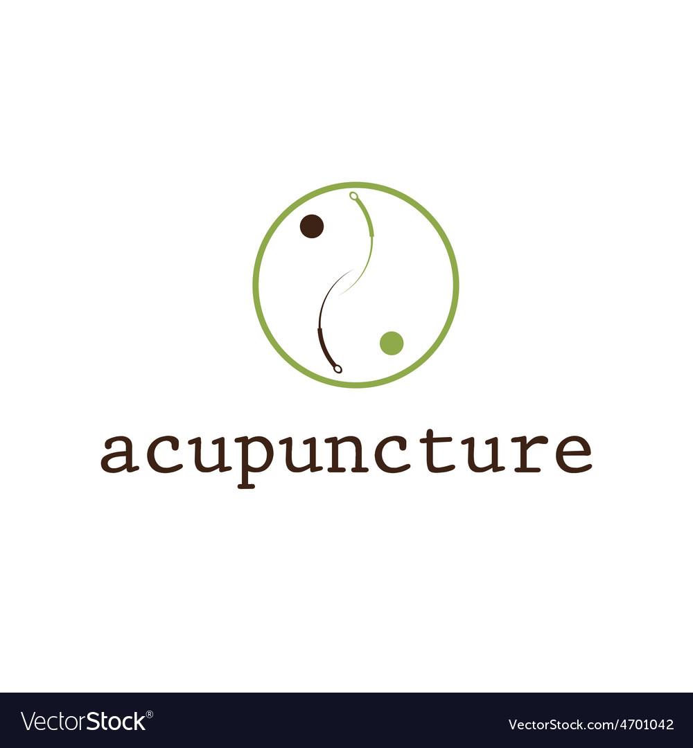 Acupuncture design template vector | Price: 1 Credit (USD $1)