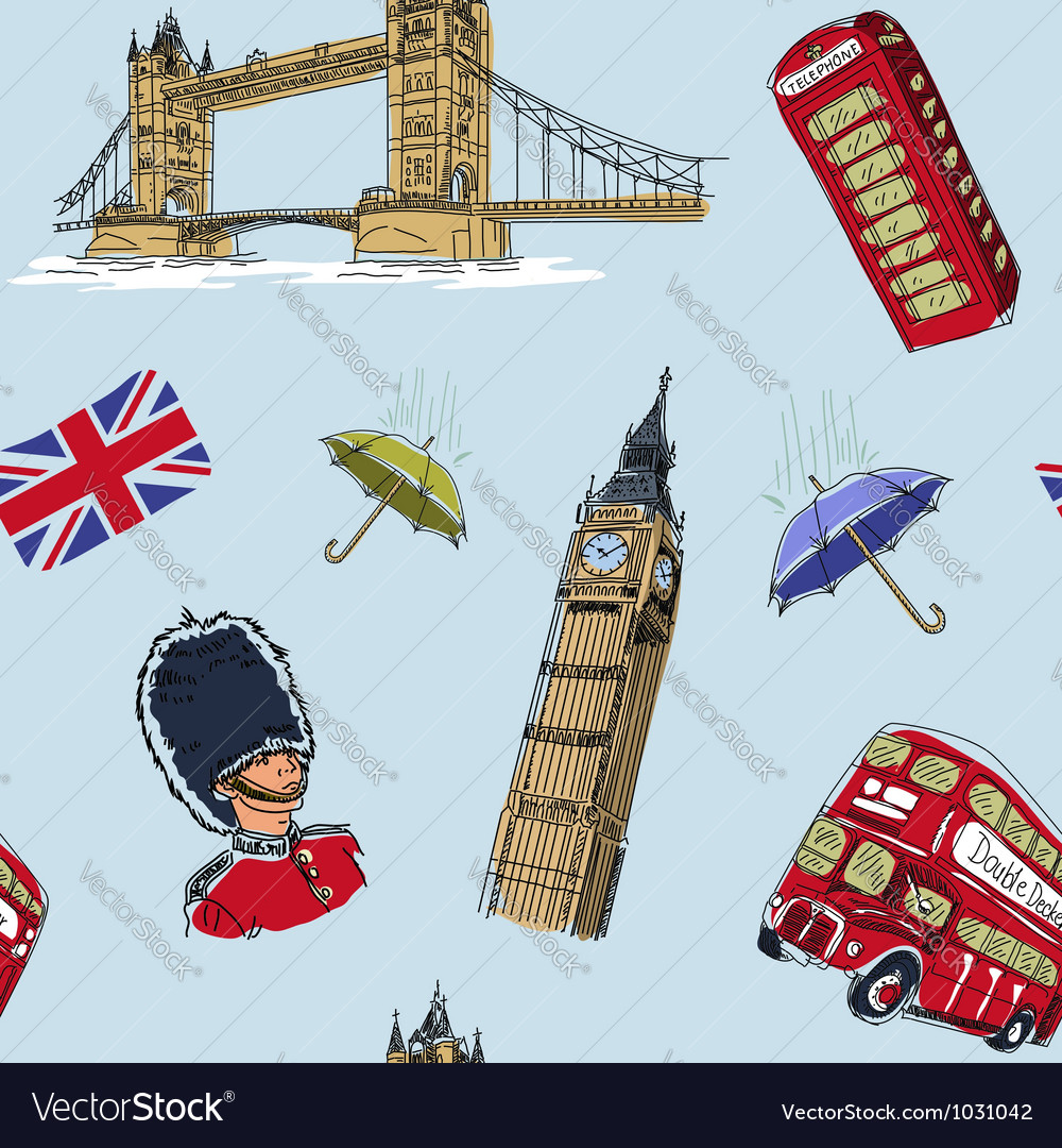 London seamless pattern vector | Price: 3 Credit (USD $3)