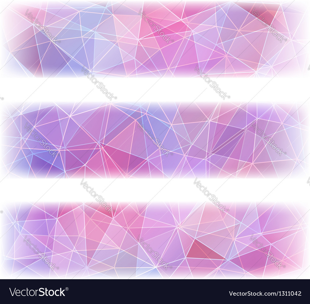 Set of three banners with abstract polygonal vector | Price: 1 Credit (USD $1)