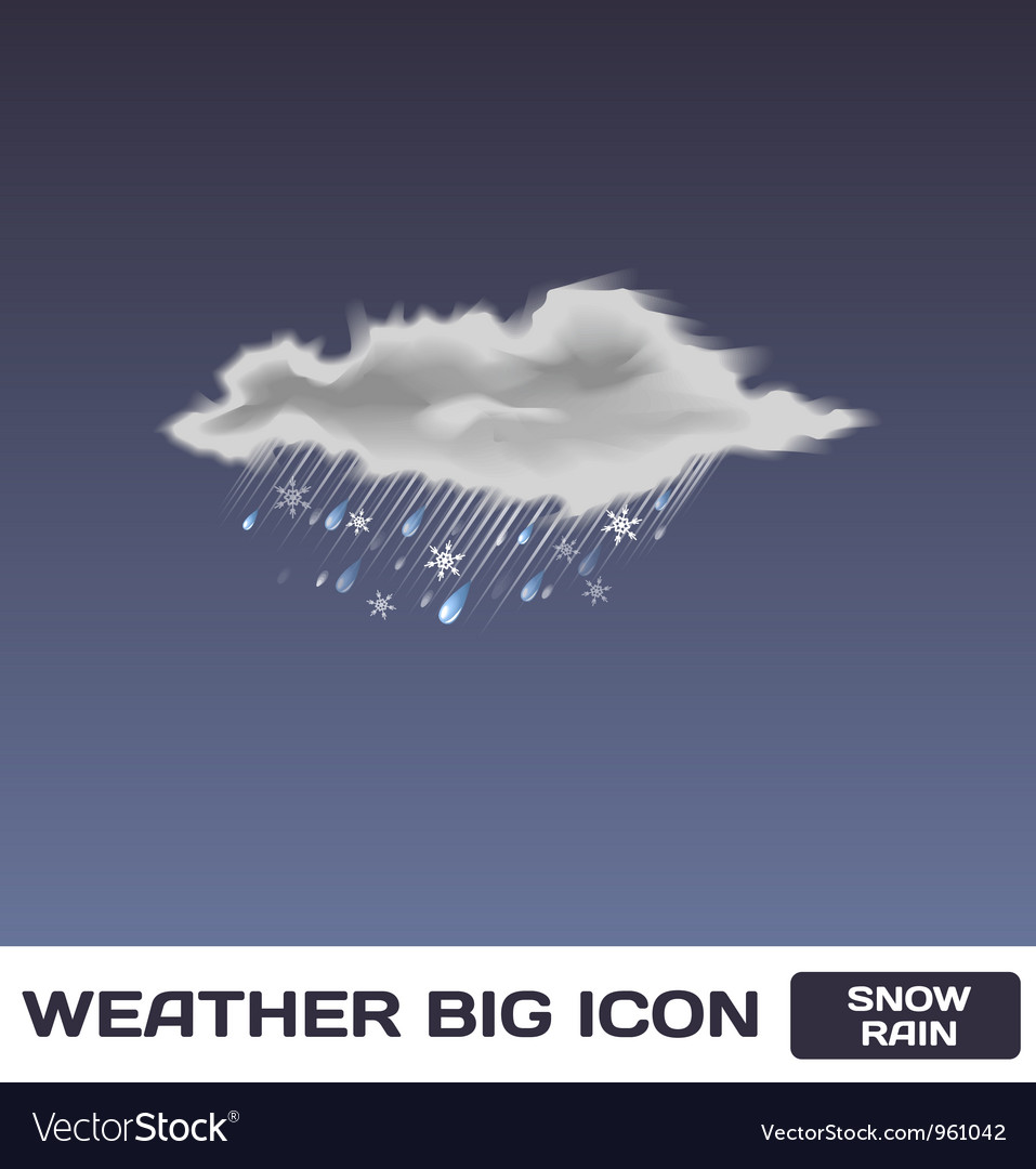 Snow rain icon vector | Price: 1 Credit (USD $1)