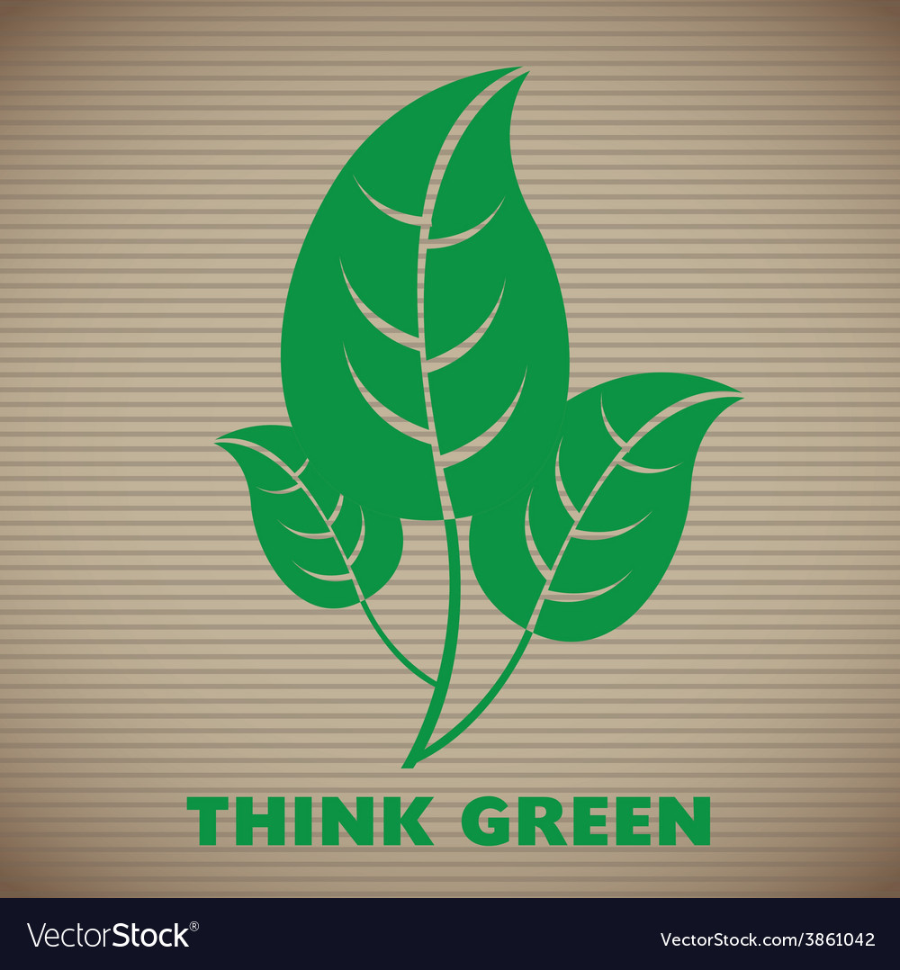 Think green vector | Price: 1 Credit (USD $1)