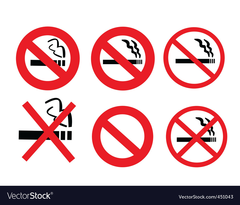 2008185 no smoking sign 3 vector | Price: 1 Credit (USD $1)