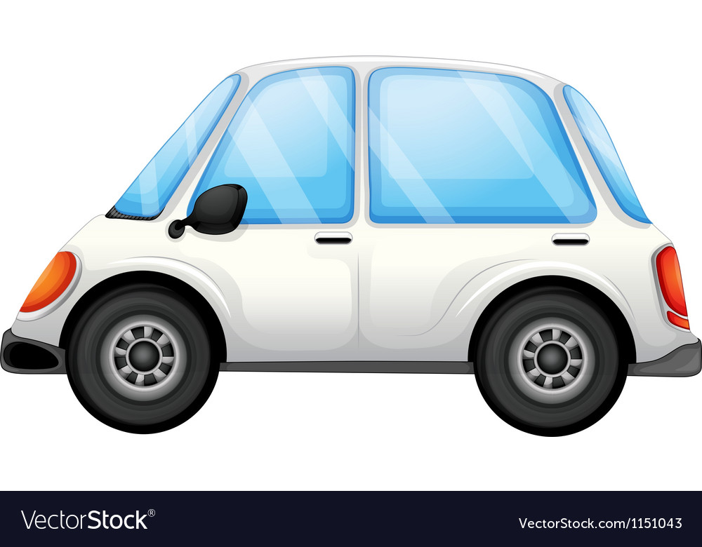 A white car vector | Price: 1 Credit (USD $1)