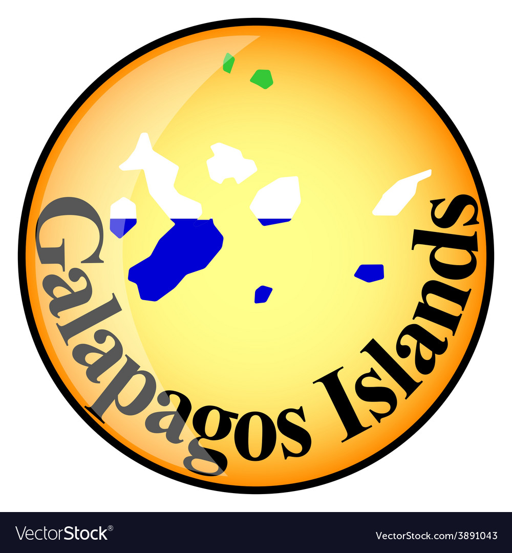 Button galapagos islands vector | Price: 1 Credit (USD $1)