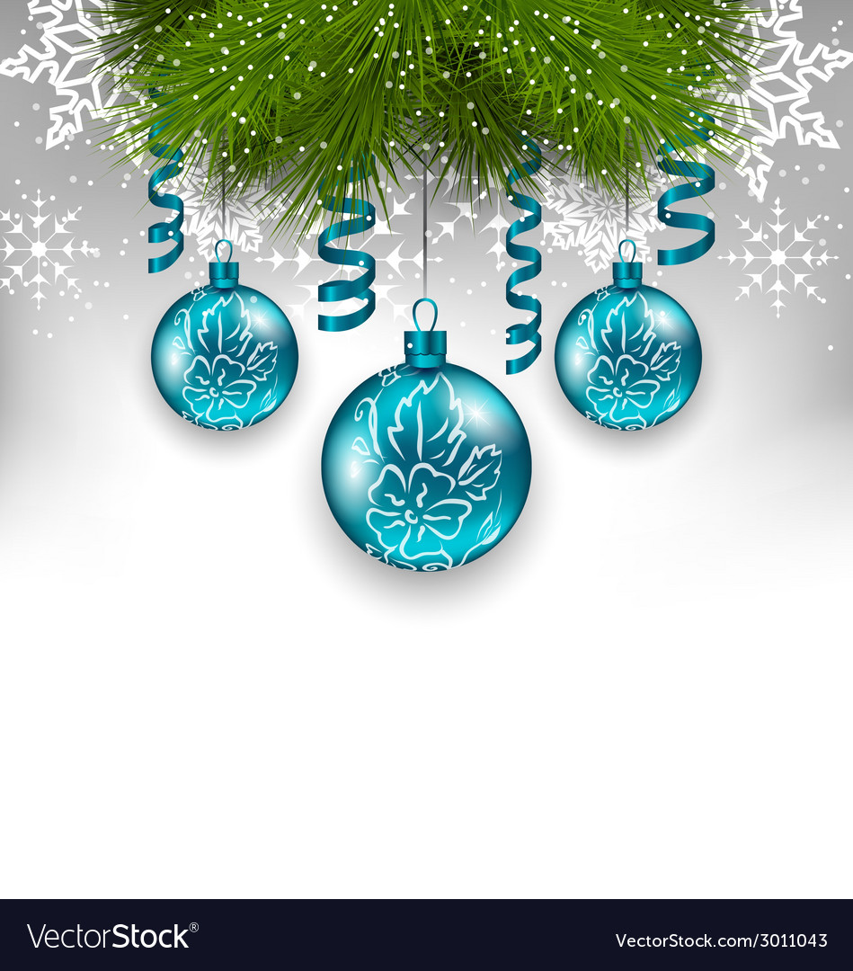 Christmas background with traditional adornment vector | Price: 1 Credit (USD $1)