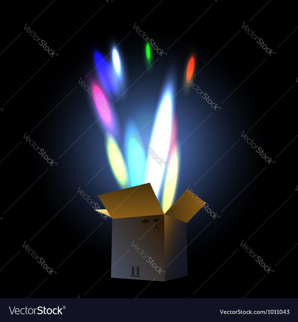 Fireworks in the giftbox vector | Price: 1 Credit (USD $1)