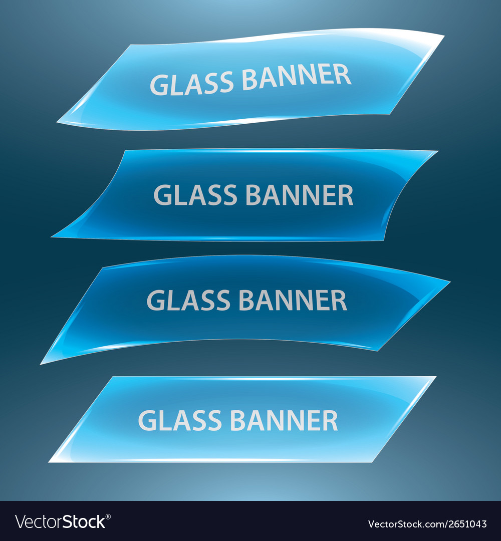 Glass banners eps10 vector | Price: 1 Credit (USD $1)
