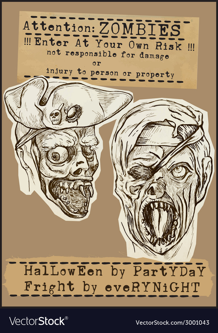 Halloween placard - hand drawings vector | Price: 1 Credit (USD $1)