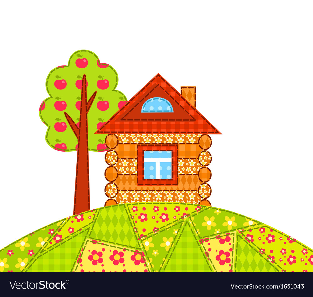 House on the hill isolated vector | Price: 1 Credit (USD $1)