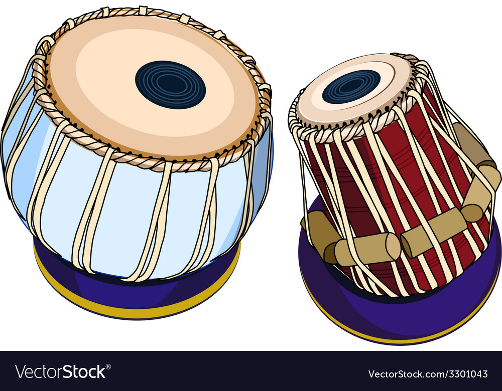 Indian musical instruments - tabla vector | Price: 1 Credit (USD $1)