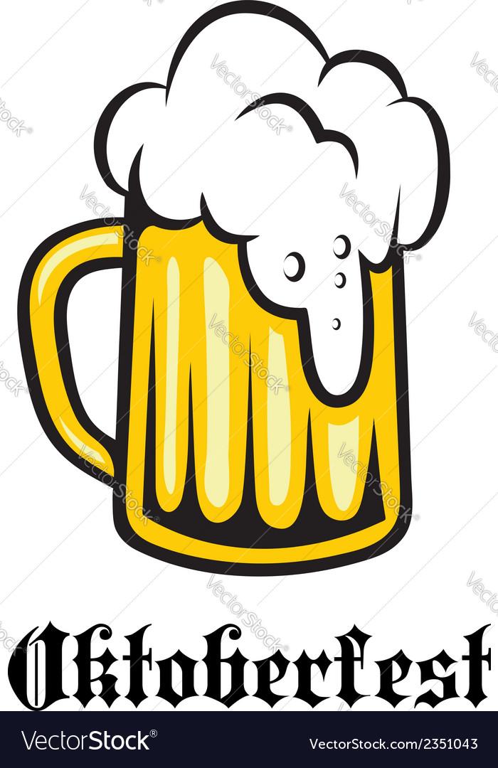 Oktoberfest emblem poster or label vector   Price: 1 Credit (USD $1)