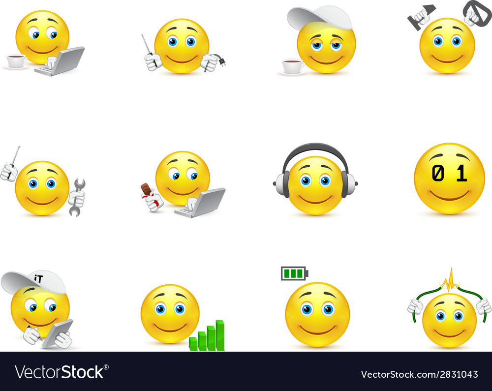 Smileys representing charging for the body and vector | Price: 1 Credit (USD $1)
