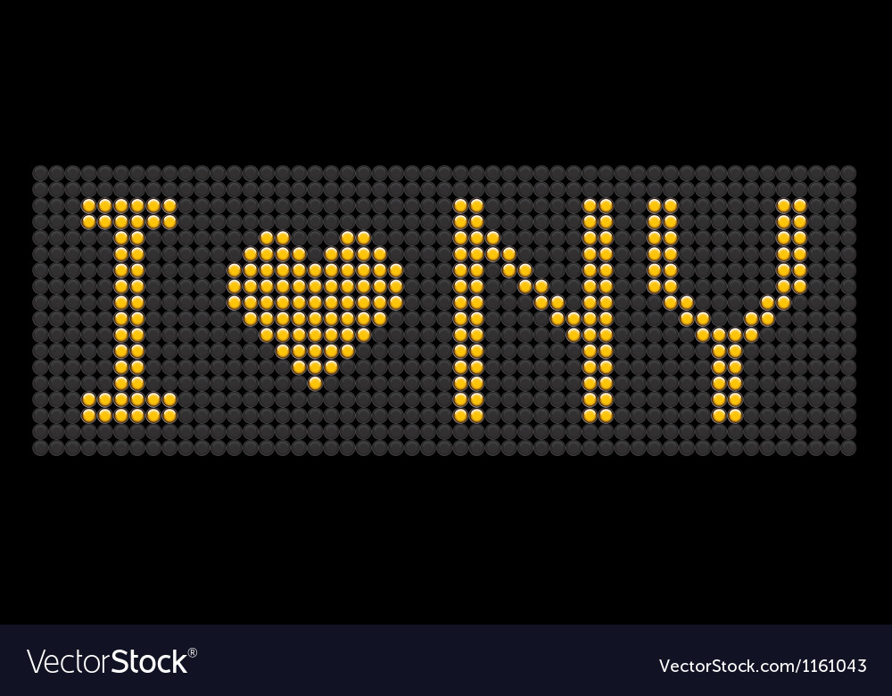 Yellow button board words i love ny vector | Price: 1 Credit (USD $1)