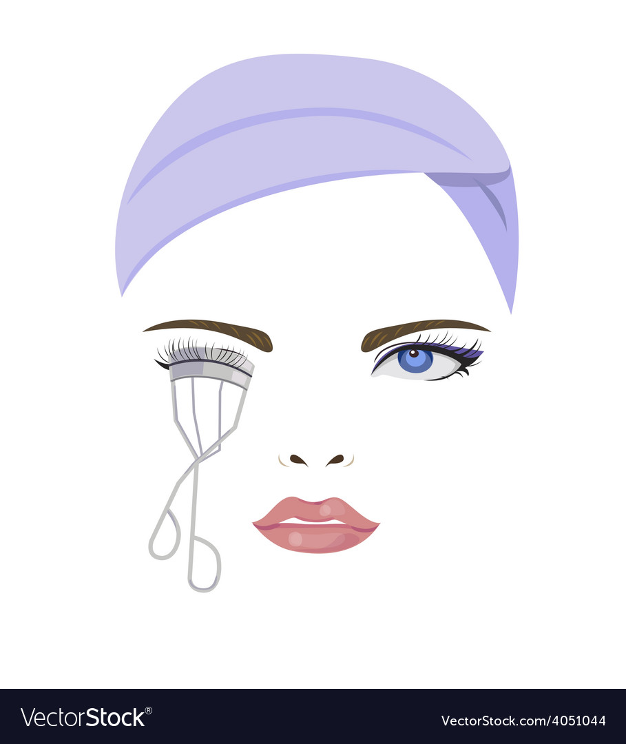 Bend eyelash vector | Price: 1 Credit (USD $1)