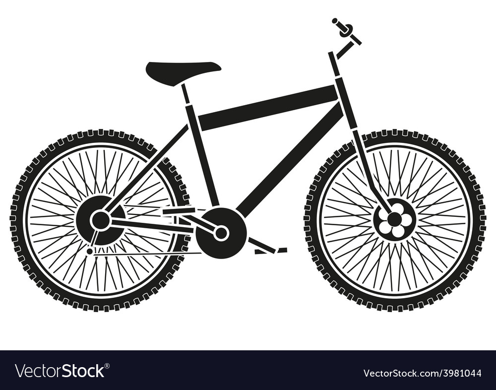 Bike silhouette vector | Price: 1 Credit (USD $1)