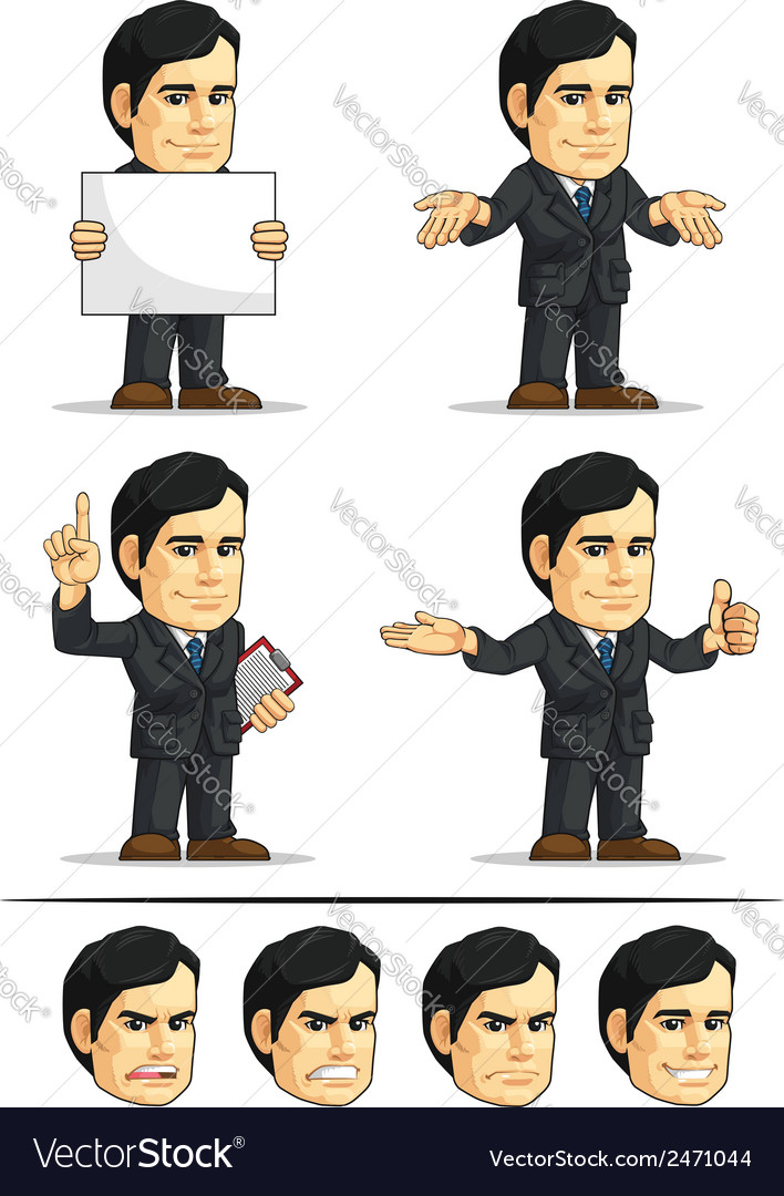 Businessman or company executive customizable 8 vector | Price: 1 Credit (USD $1)