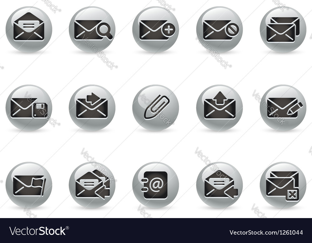 E mail icons metalround series vector | Price: 1 Credit (USD $1)