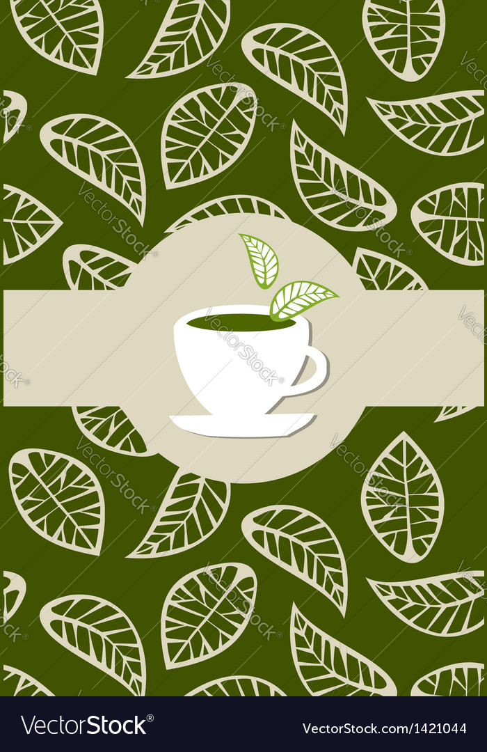 Green tea package label vector | Price: 1 Credit (USD $1)