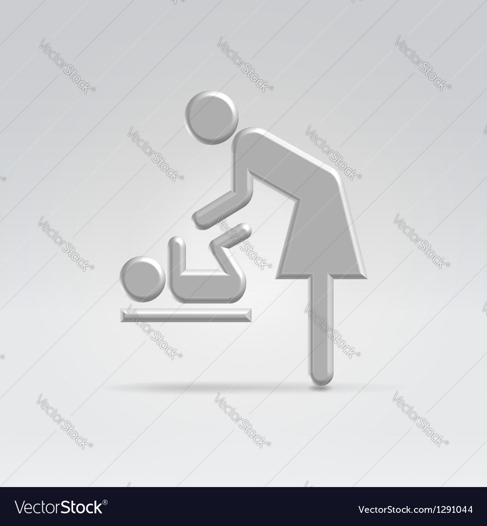 Maternity nursing icon vector | Price: 1 Credit (USD $1)