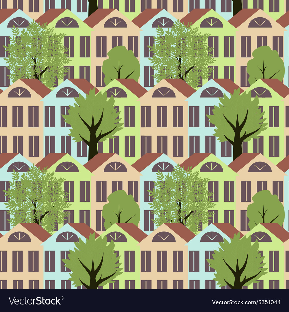 Seamless town vector   Price: 1 Credit (USD $1)
