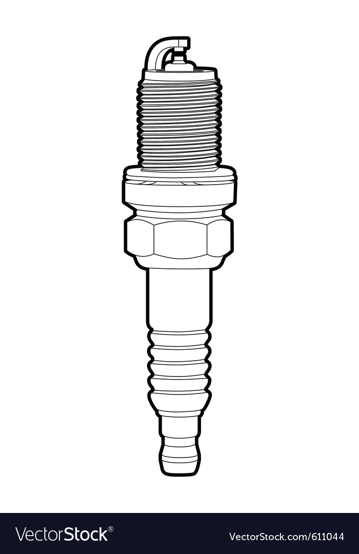 Spark-plug vector | Price: 1 Credit (USD $1)