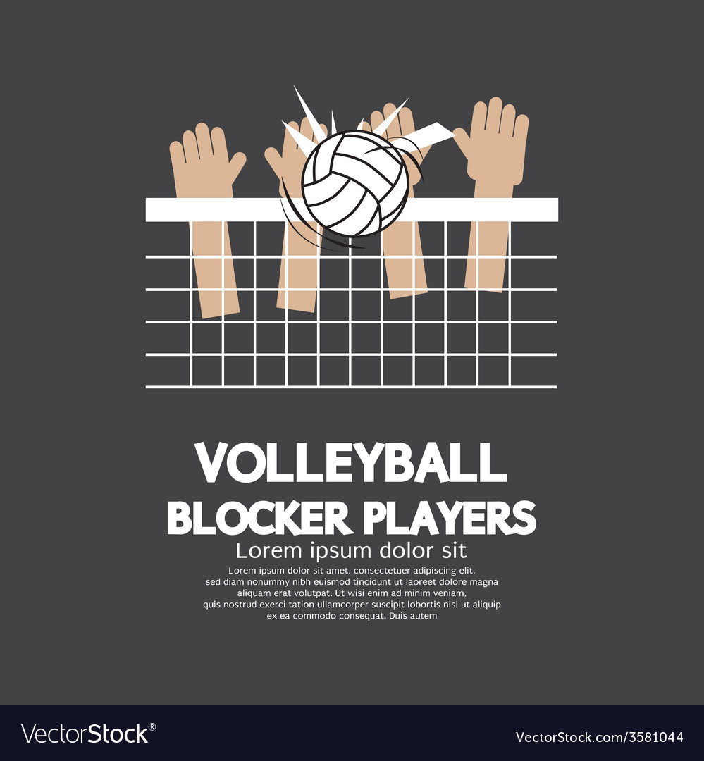 Volleyball block players sports graphic vector   Price: 1 Credit (USD $1)
