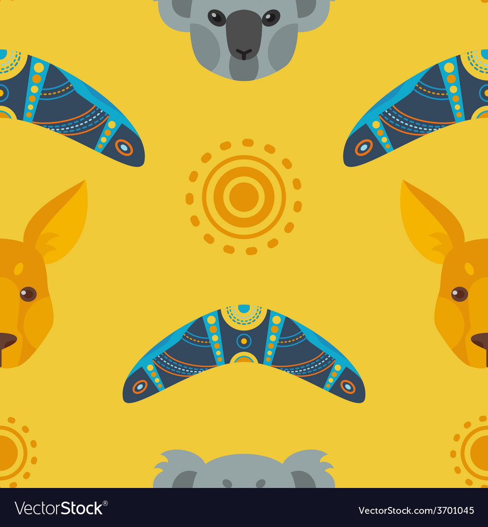 Australia flat pattern vector | Price: 1 Credit (USD $1)