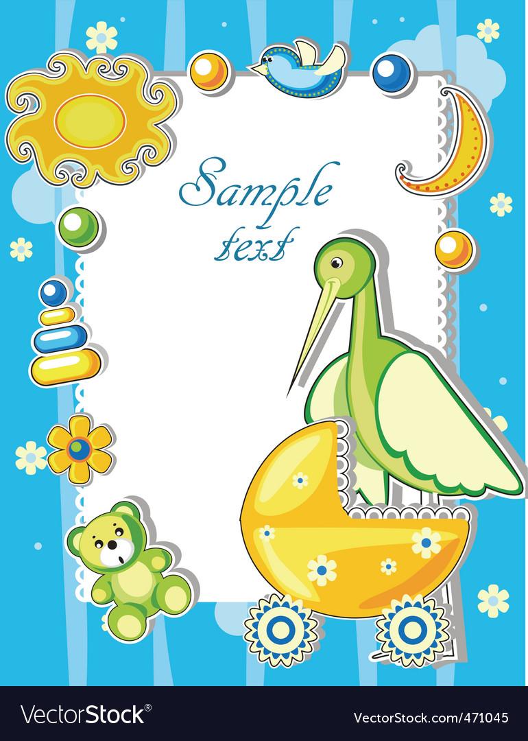 Baby card vector | Price: 3 Credit (USD $3)