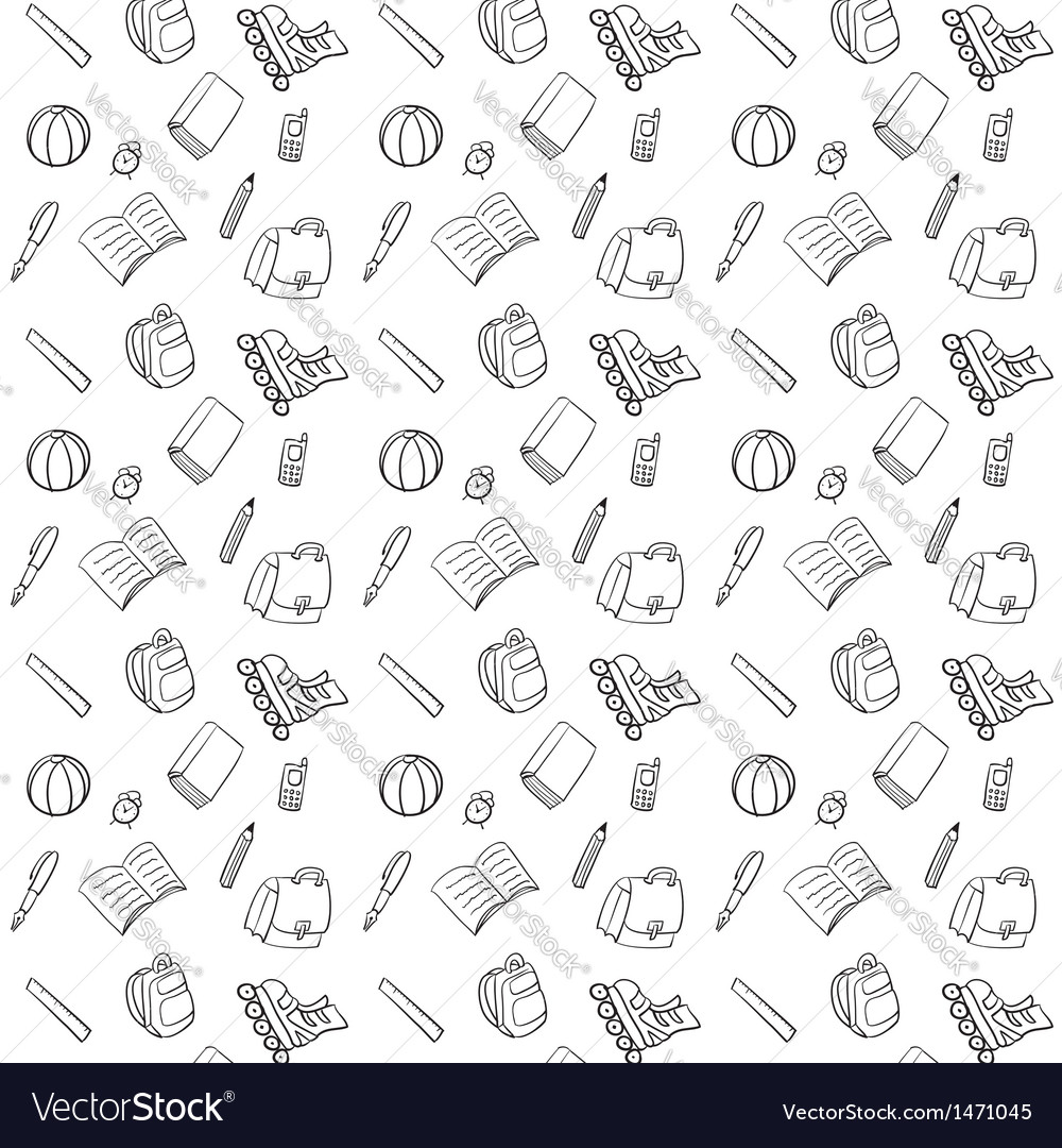 Black and white textile school pattern vector | Price: 1 Credit (USD $1)