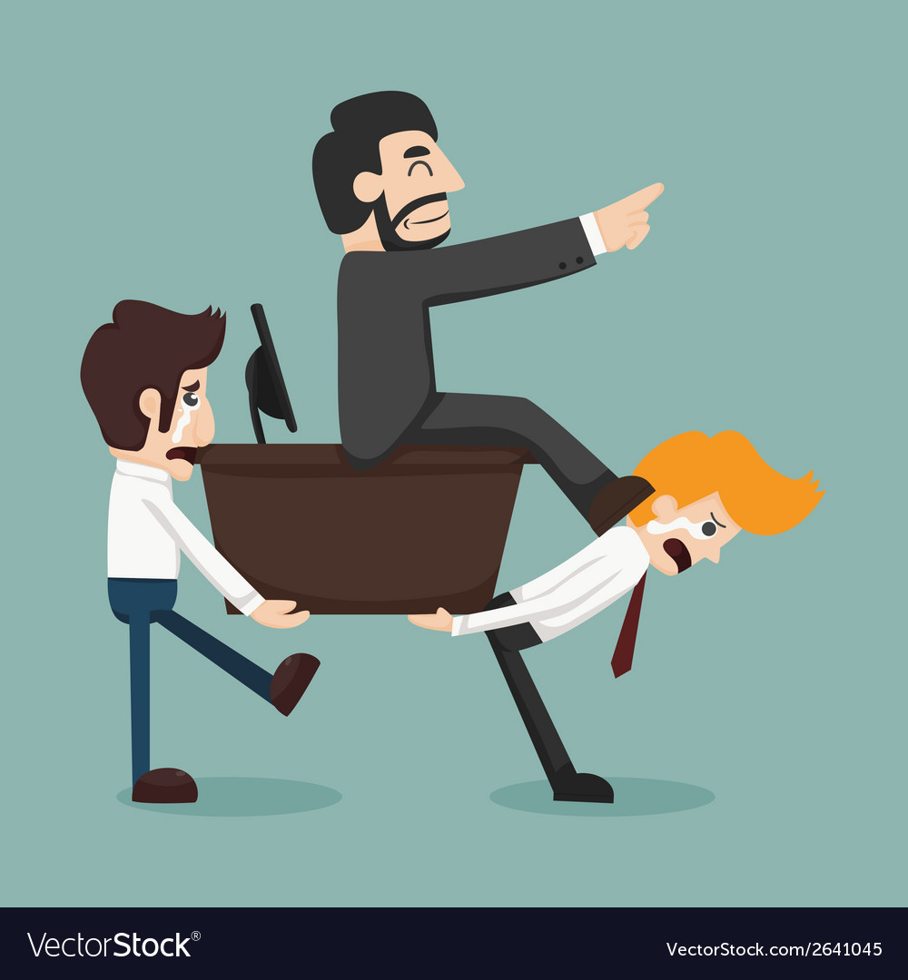Businessman carrying boss vector | Price: 1 Credit (USD $1)