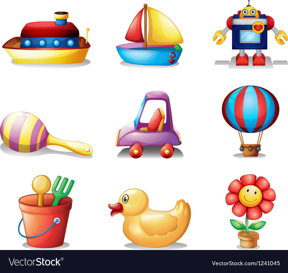 Different kinds of toys vector | Price: 1 Credit (USD $1)