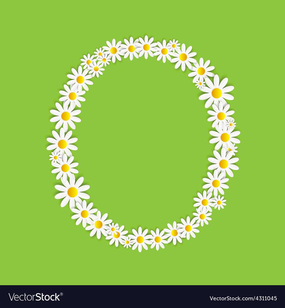 Flora daisy design alphabet vector   Price: 1 Credit (USD $1)